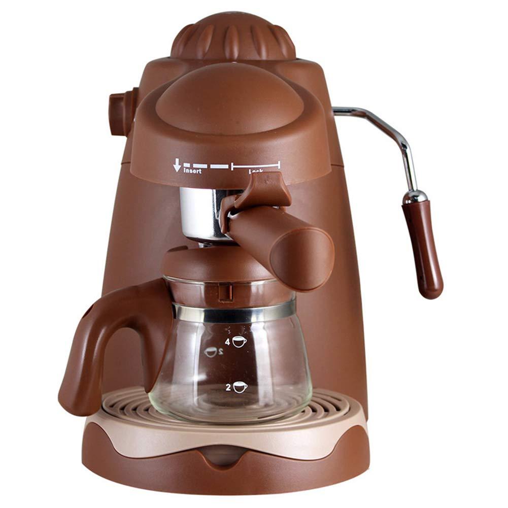 Acquisto JRZTC Macchina per Il caffè Caffettiera Espresso, 800 W, Cappucino Coffee Machine Serie Vintage, 18 * 24,5 * 26Cm, 220V, Marrone Prezzi offerta