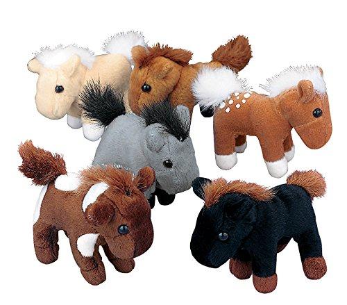 24 Plush Horses Lot Pony Party Favor Stuffed Animals Farm Western Cowboy Cowgirl