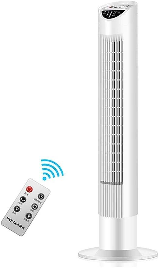 ZHJYD Ventilador de Torre Oscilación, Torre con Control Remoto ...