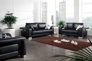 Vig Furniture 2926 - Black Bonded Leather Sofa Set
