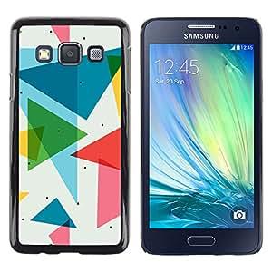 Cubierta protectora del caso de Shell Plástico    Samsung Galaxy A3    POLÍGONO TRIÁNGULO DEL MODELO @XPTECH