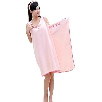 Absorbente toalla para mujer tipo vestido para la playa, el spa o para salir de