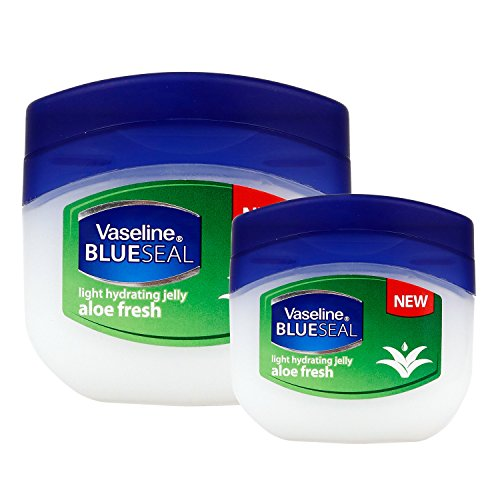 (2 PACK) VASELINE BlueSeal Gentle Petroleum Jelly (Aloe Fresh), Lip therapy Portable Small Vaseline 1.7oz