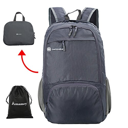Amamcy Lightweight Packable Travel Hiking Backpack Durable Daypack Water Resistance Foldable Outdoor Bag for Women Men by Amamcy
