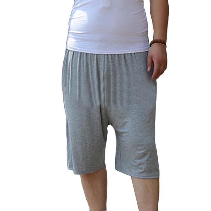 GladiolusA Pantalón Corto De Pijama para Hombre Pantalones Cortos Shorts Ropa De Dormir para Dormir Tiempo Libre Talla Grande: Amazon.es: Ropa y accesorios