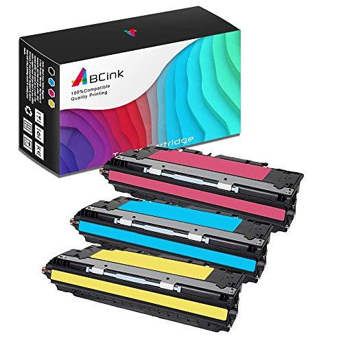 ABCink 311A Q2681A Q2683A Q2682A Toner Compatible for HP Laserjet 3700,3700dn,3700dtn,3700n,3550,3550n,3500,3500n Color Laser Printer Toner Cartridge,3 Pack(1 Cyan,1 Yellow,1 Magenta)
