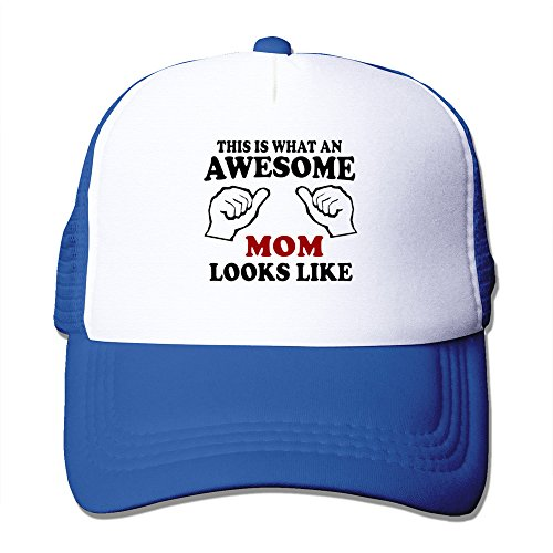 Women's What An Awesome Mom Looks Like Mesh Back Baseball Caps ()