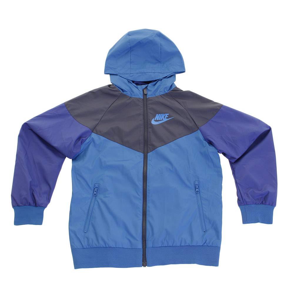 NIKE Sportswear Windrunner Big Boys Jacket White Black Wolf Grey