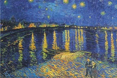 Amazon.com: Vincent Van Gogh Starry Night Over the Rhone 24x36 ...
