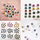 uhoMEy Colorful Plastic Eyes for Dolls, DIY or Craft Oval Hollow Safety Eyes for Teddy Bear Dolls Plush Animals,27 Pairs, 11-16mm