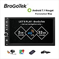 Car Stereo Android 7.1 Double Din 2GB 32GB Bluetooth 4.0 Radio GPS Navigation Support Fast Boot GPS Navigation USB/SD 3G WIFI Mirror Link AV-Out OBD2 DVR Subwoofer