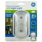 GE Motion-Activated LED Night Light, Chrome