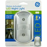 GE Motion-Activated LED Night Light, Chrome
