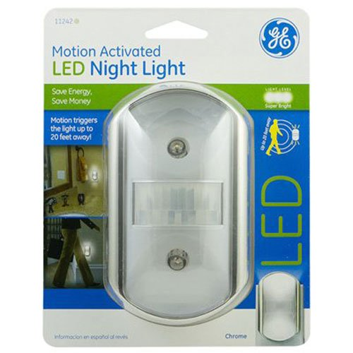GE Motion Activated Night Light Chrome