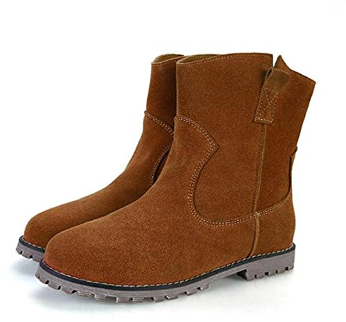 Inverno Opaco E Pelle Autunno Stivali Scarpe Camel Stivali Stivali Martin 5qPwxOxdE