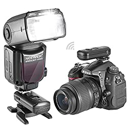 Neewer NW910/MK910 i-TTL HSS LCD Screen Speedlite Master/Slave Flash Kit for Nikon DSLR Cameras,includes:(1)NW910/MK910 Flash +(1)2.4Ghz Flash Trigger+(1)35 Color Filters+(1)Softbox+(1)Flash Case