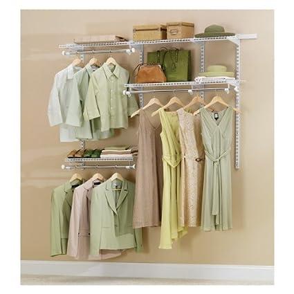 Rubbermaid fg3h1102wht configurations closet kits 3 6 white