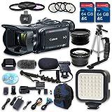 Canon XA35 HD Professional Camcorder + Wideangle Lens + Telephoto Lens + Lens Hood + 2 PC 64 GB Memory Cards + Tripod + LED Light + 3 PC Filter Kit + 4 PC Macrokit - International Version