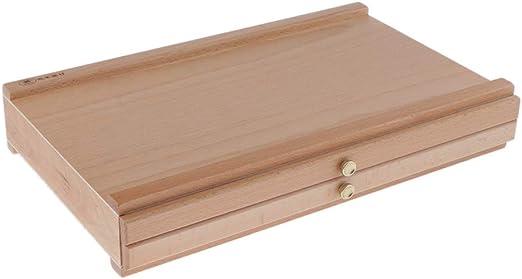 IPOTCH Vintage Caja de Almacenamiento para Cepillo Pintura Caja de ...
