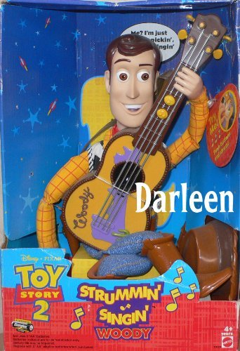 Toy Story 2 ~ Strummin' Singin' Woody doll with Musical Guitar! (Story Toy Guitar)