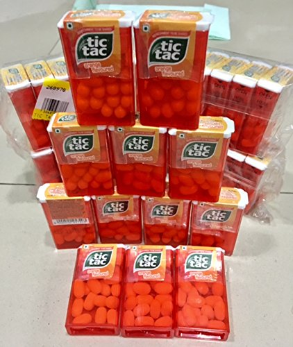 Spearmint Cool 12 Boxes (Tic Tac Orange Flavoured (Pack of 12) Ferrero Worldwide)