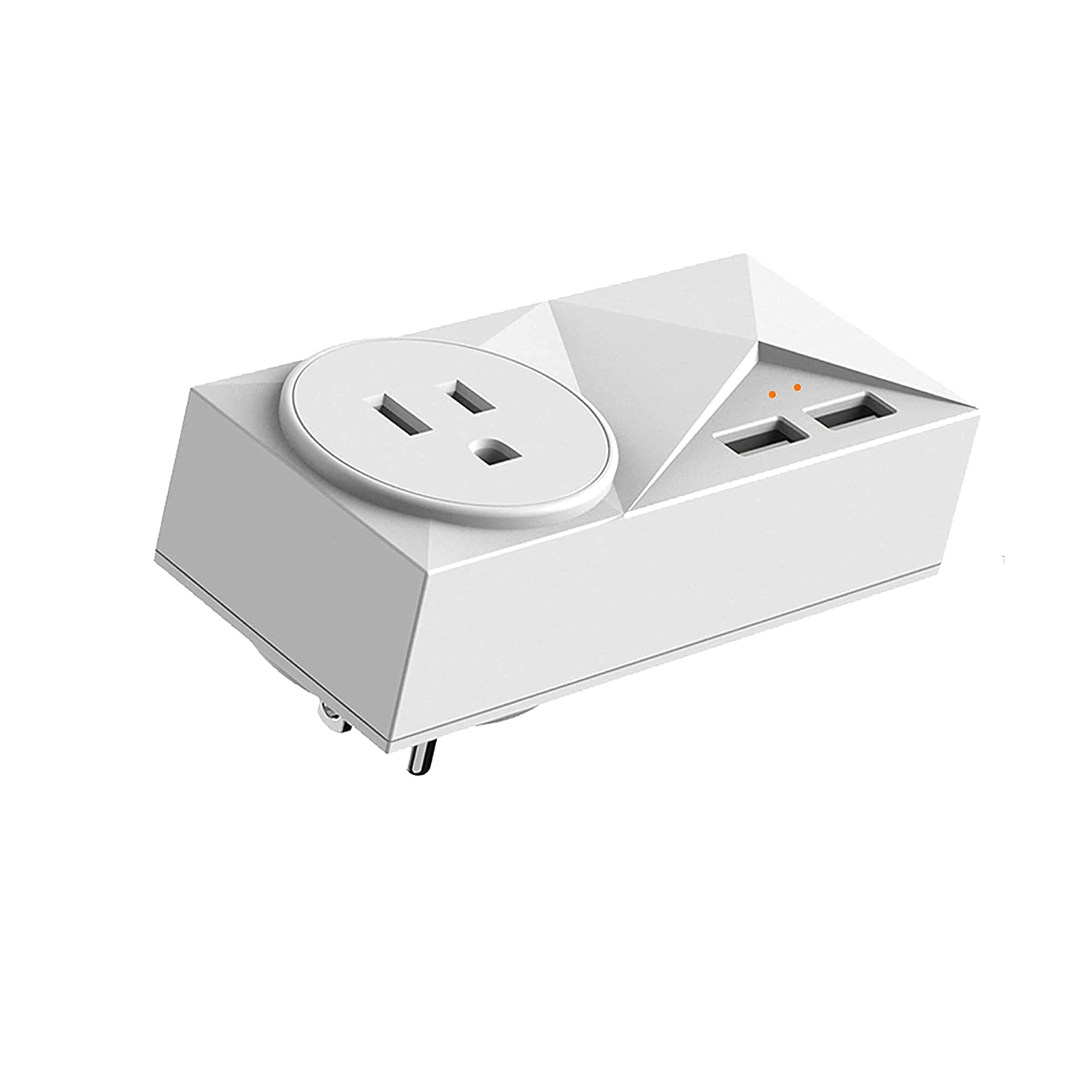 Wi-Fi Plugs for Alexa, 16A Smart Outlet with 2 USB Ports, Work with Alexa Echo,Google Home, SmartThings for Voice Control/Remote Control, Timer Plug, 2.4GHz
