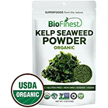 Biofinest Kelp Seaweed Powder -100% Pure Antioxidants Superfood - USDA Certified Organic Kosher Vegan Raw Non-GMO - Boost Digestion Weight Loss Detox - For Smoothie Beverage (4 oz Resealable Bag)