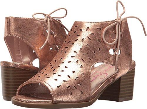 Jessica Simpson Kids Bailee Girls' Toddler-Youth Sandal 2 M US Little Kid Rose Gold-Metallic