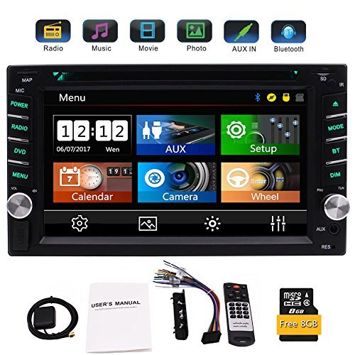 EinCar Double 2 Din GPS Car Stereo DVD CD Player with 6.2 Inch Capacitive...