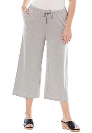 4f2901531cf Jessica London Women s Plus Size Pure Ease Crop Pant at Amazon ...