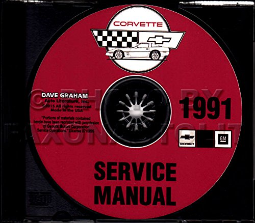 COMPLETE & UNABRIDGED 1991 CORVETTE FACTORY REPAIR SHOP & SERVICE MANUAL CD - INCLUDES; Hatchback Coupe,Convertible, ZR1 Hatchback Coupe. 91 CHEVY