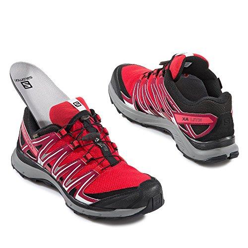 Salomon Xa Lite Gtx, Zapatillas de Trail Running para Hombre Rojo (Fiery Red/Red Dalhia/Black)