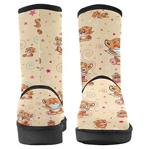 Interestprint Mujeres Snow Botas Unique Designed Comfort Botas De Invierno Cartoon Tiger Cubs Multi 1