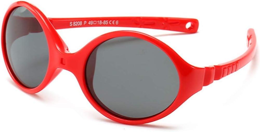 WJXIU Gafas De Sol, Lentes De Tendencia De La Moda Los Niños Que Viajan Polarizadas, Marcos De Silicona Púrpura Duradero, 100% Protección UV, Gafas De Sol For Niños Y Niñas, Al Aire Libre Conducción P