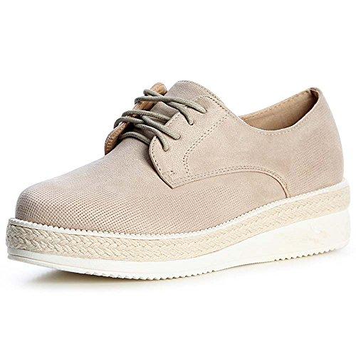 Topschuhe24 Chaussures Mocassins Beige Femmes Femmes Topschuhe24 HHqw7Sg