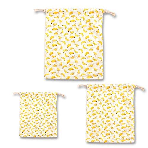 Borsa immagazzinaggio Banane regalo SUFUFruit stile del cordone di di di creativo stampa del di del Sacchetto caramella sacco Sacchetto fascio tè di del Sacchetto del pastorale Di Tre Gialle del lino di cotone Set 5vx4nqCP