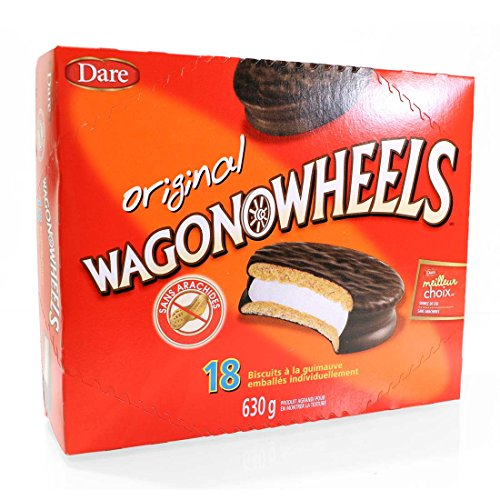 The Original Wagon Wheels - Chocolate Covered Marshmallow cookies - 18 count pack