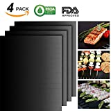 Jia Hui Lin BBQ Grill Mat Set of 4-100% Non-stick BBQ Grill Mats – FDA-Approved, PFOA Free, Reusable and Easy to Clean – Works on Gas, Charcoal, Electric Grill and More – 15.75 x 13 Inch (Black) For Sale