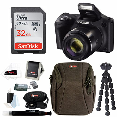Canon PowerShot SX420 IS 20 MP Digital Camera w/ Sony 32GB SD Card & Accessory Bundle by Focus Camera