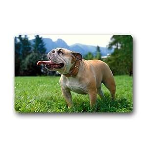 Doormat No.01 Bull Dog Felpudo Antideslizante Felpudo Durable Non-Woven Fabric Felpudo