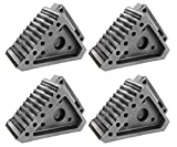 Extreme Max Value 4-Pack 5001.5772.4 Heavy-Duty Solid Rubber Wheel Chock with Handle
