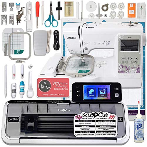 Brother ScanNCut 2 Wireless Bundle with SE600 Computerized Sewing and Embroidery Machine