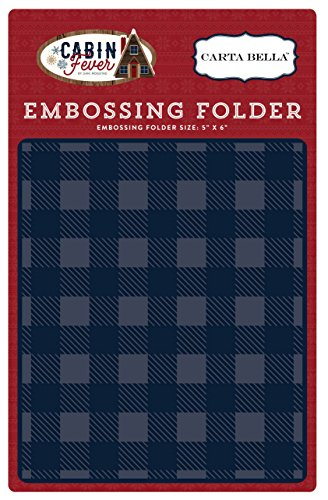 - Carta Bella Paper Company Embossing Folder -Small Buffalo Plaid
