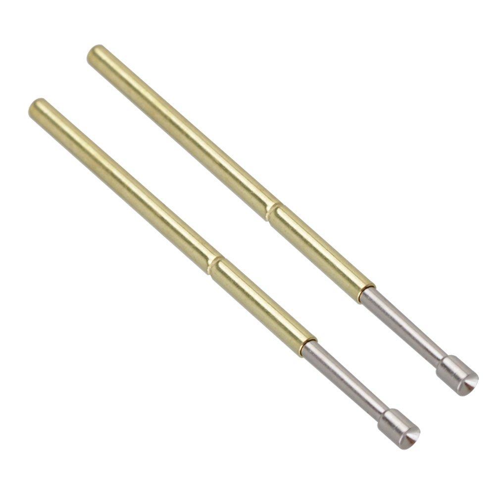 Mxfan 100 unidades de punta c/óncava de 1,36 mm P100-A2 Primavera PCB Prueba de contacto Pin