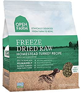 Open Farm Freeze Dried Raw Dog Food 13.5 oz (Turkey)
