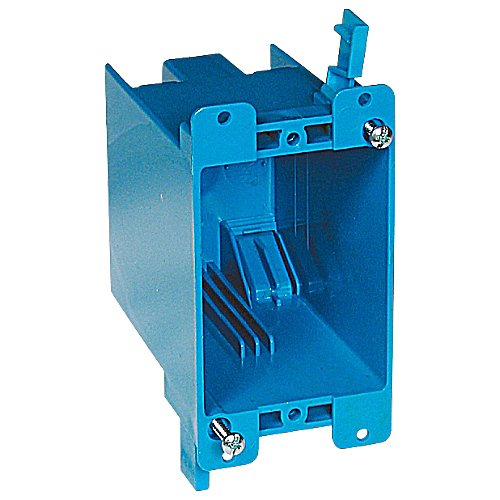 Thomas & Betts B120R One-Gang Old Work Outlet Box, PVC, Blue (Pack of 50)