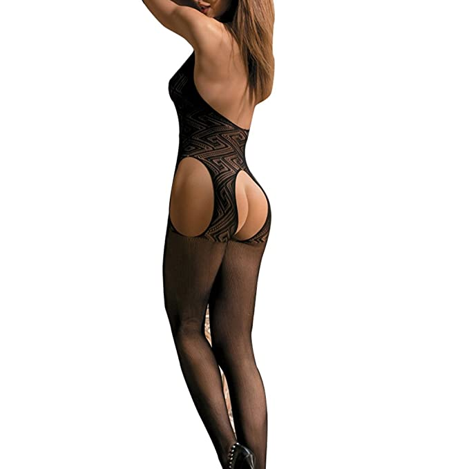8cc2974dbe Goldwish Womens Sexy Lingerie Open Crotch Fishnet Mesh Bodysuit Bodystocking  …  Amazon.com.au  Fashion