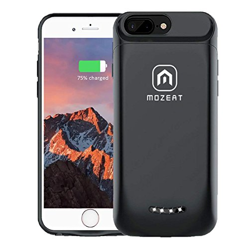 "Mozeat iPhone 6s 6 Battery Case Slim 4000mAh Rechargeable Charging Case for 4.7"" iPhone Extended Battery Pack Supports Lightning Headphones"