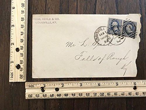 1892 Envelope 1-cent Blue Washington Stamp Canceled Louisville - Kentucky Store Louisville Louisville