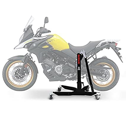 Motorcycle Paddock Stand ConStands Front Fork black mat wheel workshop lift